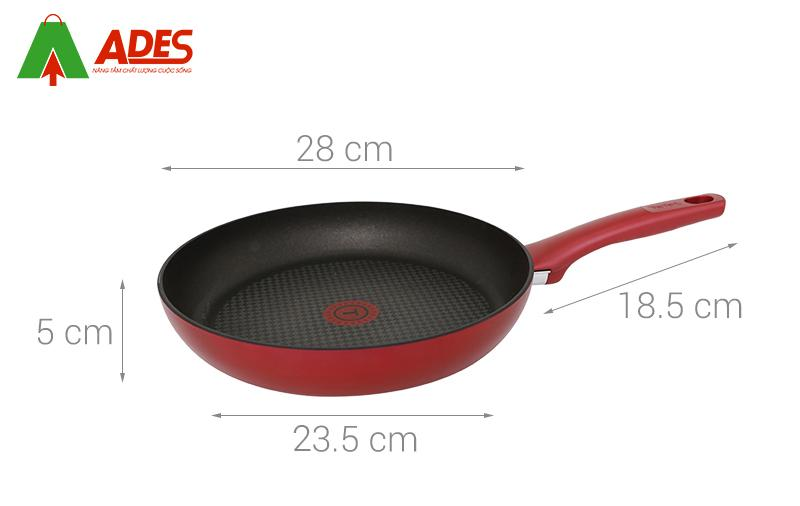 Cao tao chao chong dinh Tefal C6820672 28 Cm